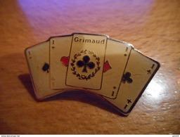 A016 -- Pin's Jeu De Cartes Grimaud - Jeux