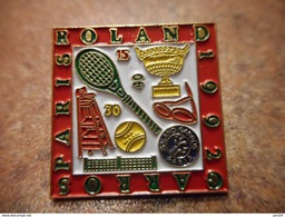 A031 -- Pin's Roland Garros Paris 1992 - Tennis