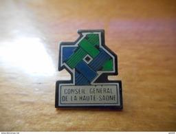 A035 -- Pin's Conseil General De La Haute Saone - Steden