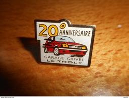 A001 -- Pin's Garage Grivel Le Tholy 20è Anniversaire - Pin's & Anstecknadeln