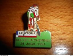 A002 -- Pin's Tour De France Col De La Cheminée 26 Juillet 1991 - Cyclisme