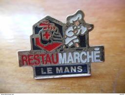 A016 -- Pin's Restaumarché Le Mans -- Exclusif Sur Delcampe - Markennamen