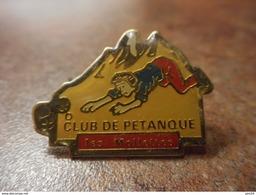 A024 -- Pin's Club De Petanque Les Mollettes -- Exclusif Sur Delcampe - Pétanque