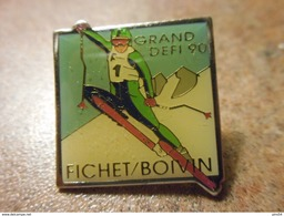 A024 -- Pin's Grand Defi Ski Fichet Boivin - Sports D'hiver
