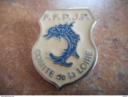 A025 -- Pin's Federation Francaise De Petanque Et Jeu Provencal FFPJP Drapeau Comite De La Loire - Pétanque