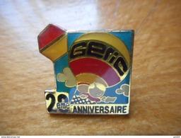 A017 -- Pin's Geric 20eme Anniversaire - Markennamen