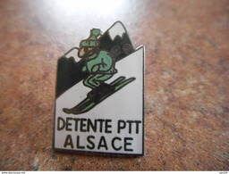 A021 -- Pin's La Poste Detente Ptt Alsace - Post