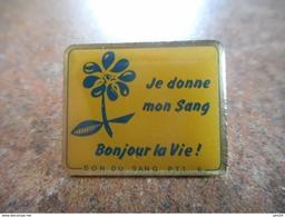 A021 -- Pin's La Poste Je Donne Mon Sang Bonjour La Vie - Postes