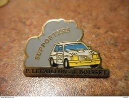 A022 -- Pin's Rallye Supporter P. Lecaillon Et J. Boisset - Rally