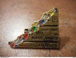 A028 -- Pin's 26eme Championnat Du Monde Juniors Rugby - Rugby