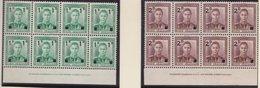NZ    .     SG   .   628/629   8x   .   Each Bloc:  2 Stamps Hinged         .   ** .    MNH - 1855-1907 Kolonie Van De Kroon