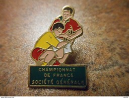 A029 -- Pin's Championnat De France Societe Generale - Rugby