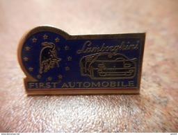 A029 -- Pin's First Automobile Lamborghini - Andere