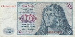 GERMANY BANKNOTE - 10 DEUTSCHE MARK 1980 - [ 7] 1949-… : RFA - Rep. Fed. Tedesca