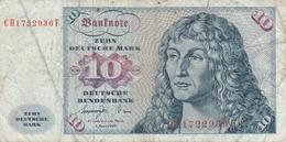 GERMANY BANKNOTE - 10 DEUTSCHE MARK 1977 - [ 7] 1949-… : RFA - Rep. Fed. Tedesca