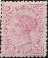 NZ    .     SG   .    180     .    1882   .     N.Z. Ans Small  Star  Wide Apart    .    *    .   Mint-hinged - 1855-1907 Kolonie Van De Kroon