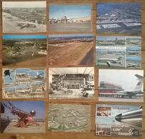 Lot De 12 Cartes Postales / Aéroports - Aérodromes