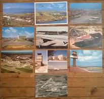 Lot De 10 Cartes Postales / Aéroports - Aérodromes