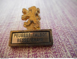 A001 -- Pin's Peugeot Talbot Besse / Braye -- Exclusif Sur Delcampe - Peugeot