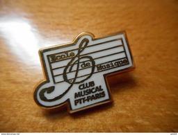 A001 -- Pin's La Poste Ecole De Musique Club Musical Ptt Paris - Postes