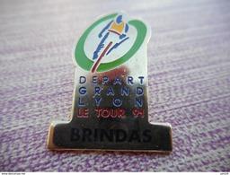 A003 -- Pin's Depart Grand Lyon - Le Tour 91 - Brindas - Ciclismo