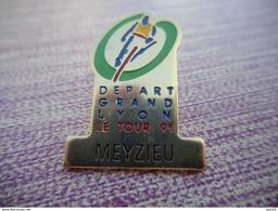 A003 -- Pin's Depart Grand Lyon - Le Tour 91 - Meyzieu - Ciclismo