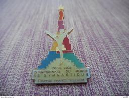 A004 -- Pin's Paris 1992 Championnat Du Monde De Gymnastique - Trophee France Telecom - Gimnasia