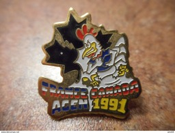 A032 -- Pin's Rugby France Canada Agen 1991 - Rugby