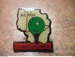 A032 -- Pin's Tennis De Table Lorraine 92 ACBD - Tennis