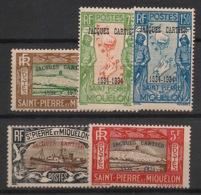 SPM - 1934 - N°Yv. 159A à 159E - Jacques Cartier - Série Complète - Neuf * / MH VF - St.Pierre & Miquelon