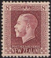 NZ    .     SG   .   428    .    1921-22     .     Single Lined  N.Z. And Star    .    *    .   Mint-hinged - Ongebruikt