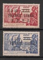 SPM - 1942 - N°Yv. 283 Et 284 - Expo New York - France Libre - Neuf * / MH VF - St.Pierre & Miquelon