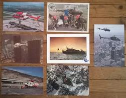 Lot De 7 Cartes Postales / HELICOPTERES - Hélicoptères