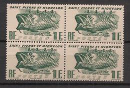 SPM - 1947 - N°Yv. 331 - Morue 1f - Bloc De 4 - Neuf Luxe ** / MNH / Postfrisch - St.Pierre & Miquelon