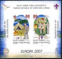 CHYPRE TURC TURKISH CYPRUS TUERK. ZYPERN EUROPA CEPT 2007 Bloc/mini Sheet, Neuve/mint - 2007