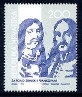 CROATIA 1993 Obligatory Tax :Zrinski-Frankopani Foundation MNH / **.  Michel  ZZM 29 - Croazia