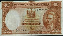 NEW ZEALAND - 10/- Shillings Nd.(1940-1967) {sign. Hanna} Fine+ P.158 A - Nieuw-Zeeland