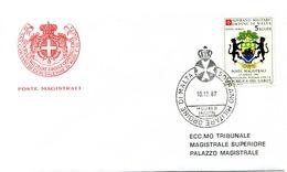 1987 SMOM FDC SET COMPLETO POSTA AEREA Gabon - Malte (Ordre De)