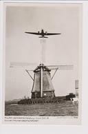 Vintage Rppc KLM K.L.M Royal Dutch Airlines Douglas Dc-3 Aircraft - 1919-1938: Between Wars