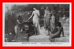"CPA  BRISTOL Art Gallery.  ""Pharaoh's Daughter"" La Fille Du Pharaon, Jolies Femmes Aux Seins Nus....J667 - Paintings"