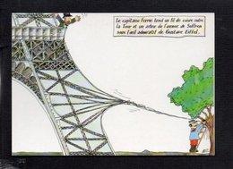 """Dessin D'Illustrateur Buz """" Centenaire De La Tour Eiffel """" Fêtes De Levallois Perret 1989 / N° M 27/37 - Sin Clasificación"""