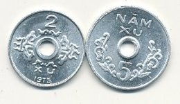 2 Hai Xu Alu 1975 Et 5 Nâm Xu Alu 1975   VIETNAM DU SUD   EN SUPERBE !!!!    VOIR SCANS - Viêt-Nam