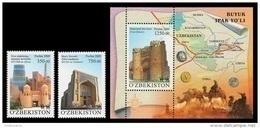 Uzbekistan 2009 Mih. 827/28 + 829 (Bl.52) Great Silk Road MNH ** - Uzbekistan
