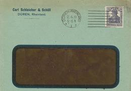 Lochung Perfin 1919 - Düren Rheinland Carl Schleicher & Schüll - Fensterkuvert       (A5) - Germania