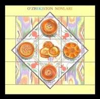 Uzbekistan 2019 Mih. 1342/45 (Bl.93) Gastronomy. Uzbek Bread MNH ** - Uzbekistán