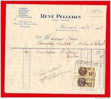 FACTURE (Réf:C142) (VIEUX PAPIERS -Documents Commerciaux Fournitures De Bureau Et Machine à Écrire RENÉ PELLERIN PARIS - 1900 – 1949
