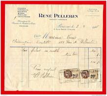 FACTURE (Réf:C146) (VIEUX PAPIERS -Documents Commerciaux) Fournitures De Bureau Et Machine à Écrire RENÉ PELLERIN PARIS - 1900 – 1949