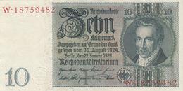 10 REICHSMARK 1929 DEUTSCHE REICHSBANK Banknote Sehr Gute Erhaltung - 10 Mark