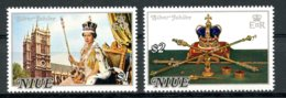 Niue, 1977, Silver Jubilee Queen Elizabeth, Royal, MNH, Michel 171-172 - Niue
