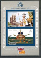 Niue, 1977, Silver Jubilee Queen Elizabeth, Royal, MNH, Michel Block 1 - Niue